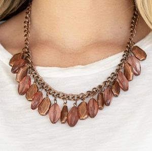 Fringe Fabulous Copper Necklace and Earrings